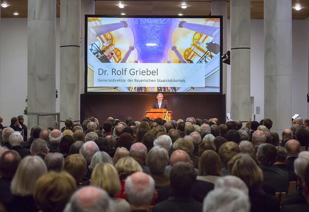 Festliche Verabschiedung von Generaldirektor Dr. Rolf Griebel in der Bayerischen Staatsbibliothek am 12.02.2015 Foto: Bay. Staatsbibliothek, HRSchulz